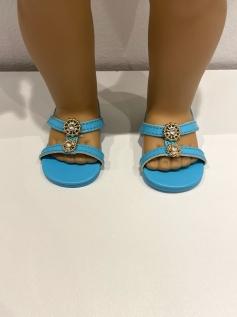 Sapato Sandália para American Girl ou Our Generation - Azul