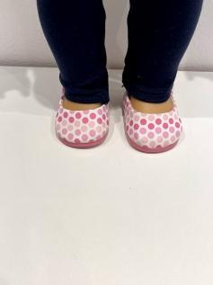 Sapato Sapatilha para American Girl ou Our Generation - Bolinha