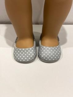 Sapato Sapatilha para American Girl ou Our Generation - c/bolinha