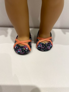 Sapato Sapatilha para American Girl ou Our Generation - Estampada