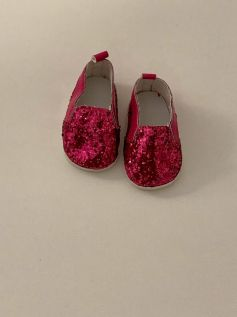 Tênis para American Girl ou Our Generation - Rosa Pink Glitter