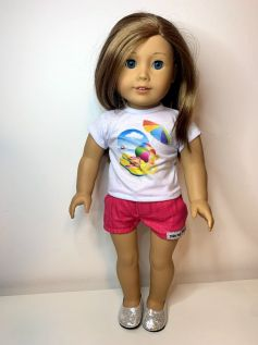 Short para American Girl ou Our Generation (0035)