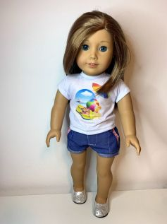Short para American Girl ou Our Generation (0036)