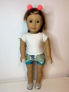 Short para American Girl ou Our Generation (0037)