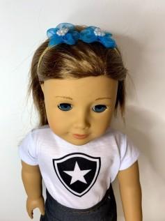 Tiara Elástico para Boneca Florzinha Azul