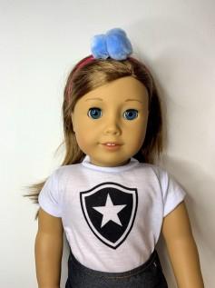 Tiara Elástico para Boneca Pompom Azul 1