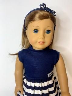 Tiara para Boneca Lacinho Azul E