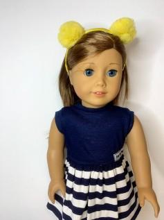 Tiara para Boneca Pompom Amarelo