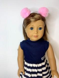 Tiara para Boneca Pompom Rosa C2