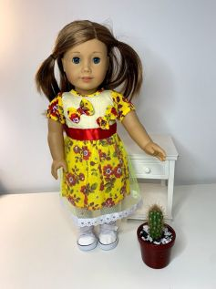 Vestido Caipira para American Girl ou Our Generation (0002)