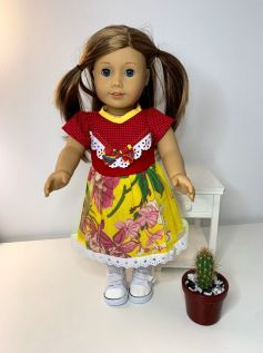 Vestido Caipira para American Girl ou Our Generation (0003)