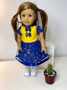 Vestido Caipira para American Girl ou Our Generation (0004)