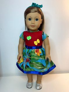 Vestido Caipira para American Girl ou Our Generation (0007)