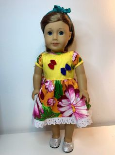 Vestido Caipira para American Girl ou Our Generation (0008)