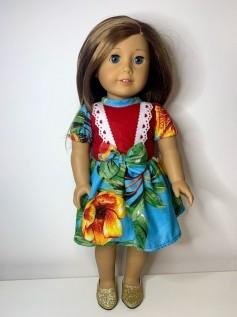 Vestido Caipira para American Girl ou Our Generation (0009)