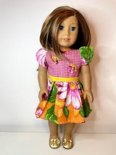 Vestido Caipira para American Girl ou Our Generation (0011)