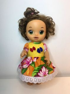 Vestido Caipira para Baby Alive (0002)