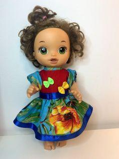 Vestido Caipira para Baby Alive (0003)
