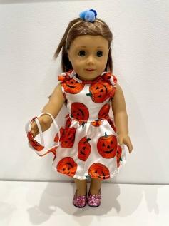 Vestido Halloween para American Girl ou Our Generation (0010)