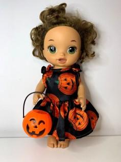 Vestido Halloween para Baby Alive (0002)