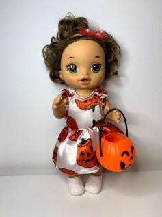 Vestido Halloween para Baby Alive (0004)