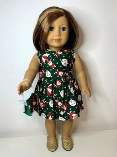 Vestido Natal + Máscara para American Girl ou Our Generation (0001)