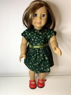Vestido Natal  para American Girl ou Our Generation (0003)