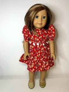 Vestido Natal para American Girl ou Our Generation (0007)