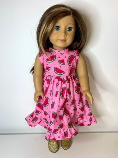 Vestido para American Girl ou Our Generation (0009)