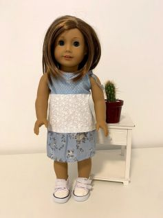 Vestido para American Girl ou Our Generation (0040)
