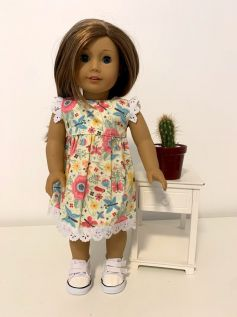 Vestido para American Girl ou Our Generation (0042)