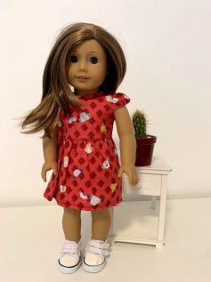 Vestido para American Girl ou Our Generation (0045)