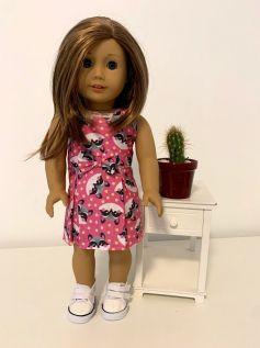 Vestido para American Girl ou Our Generation (0055)