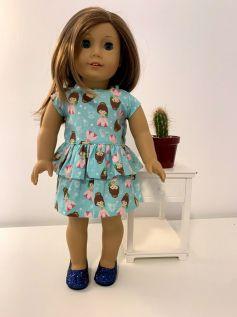 Vestido para American Girl ou Our Generation (0061)
