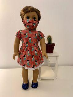Vestido para American Girl ou Our Generation (0065)