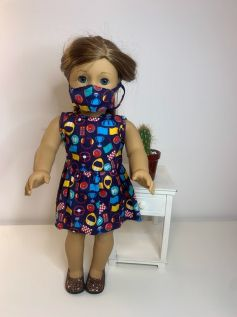 Vestido para American Girl ou Our Generation (0073)