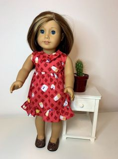 Vestido para American Girl ou Our Generation (0086)