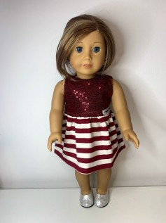 Vestido para American Girl ou Our Generation (0105)