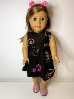 Vestido para American Girl ou Our Generation (0153)