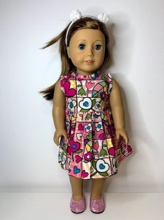 Vestido para American Girl ou Our Generation (0155)