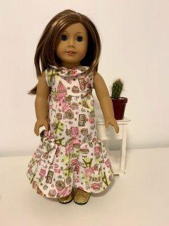 Vestido para American Girl ou Our Generation (0013)
