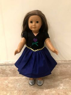 Vestido Princesa para American Girl ou Our Generation (0002)