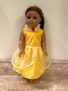 Vestido Princesa para American Girl ou Our Generation (0001)