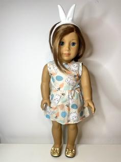 Vestido para American Girl ou Our Generation Páscoa (0002)