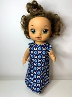 Vestido para Baby Alive (0115)