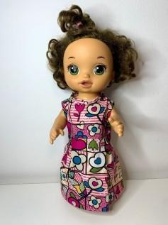 Vestido para Baby Alive (0117)