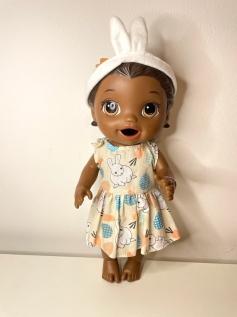 Vestido para Baby Alive Páscoa (0002)