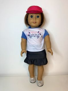 Viseira de Palha para American Girl ou Our Generation (0001)