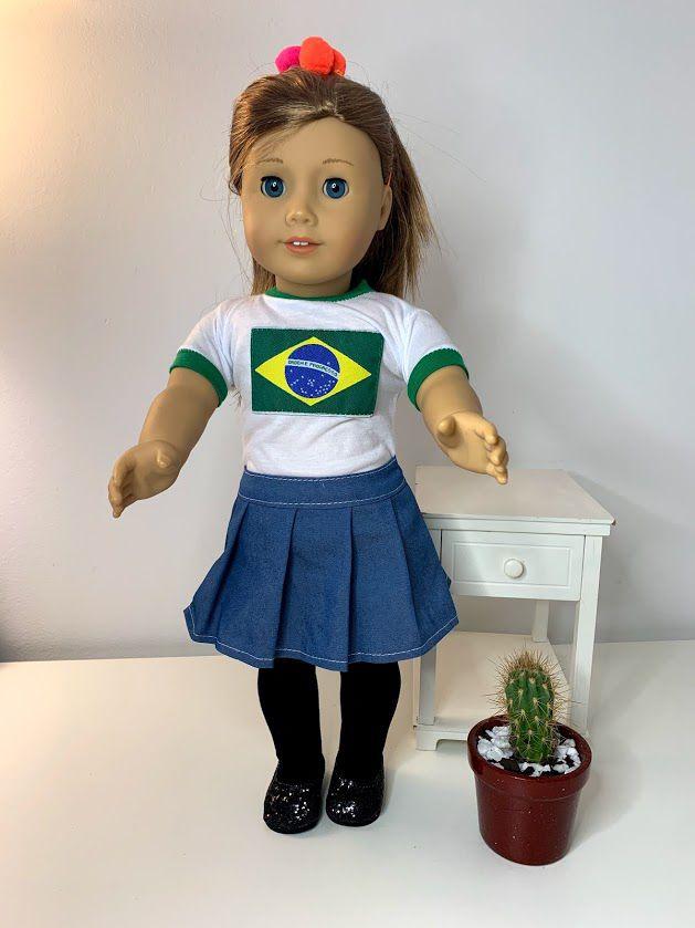 Blusa para American Girl ou Our Generation (0056)