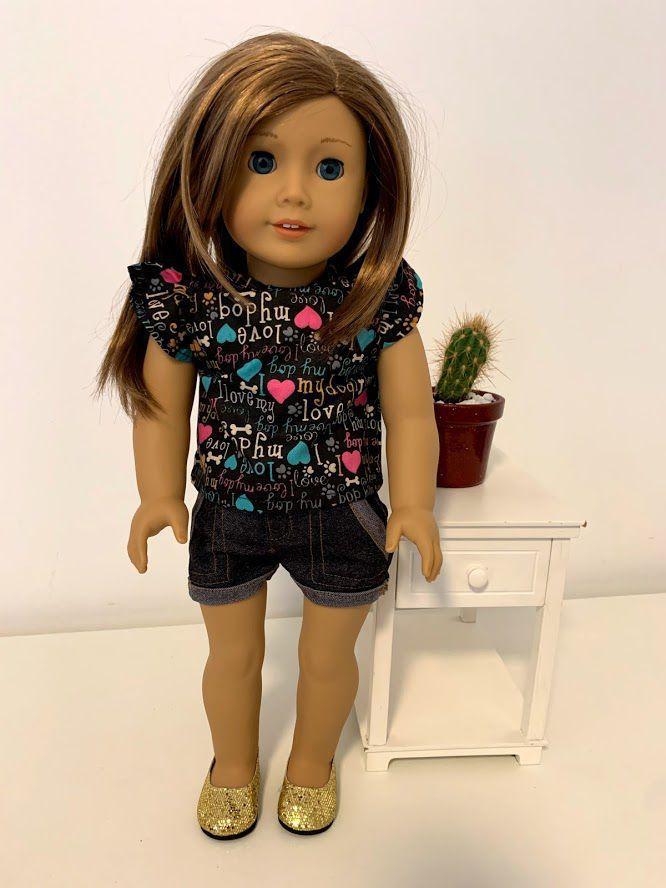 Blusa para American Girl ou Our Generation (0009)